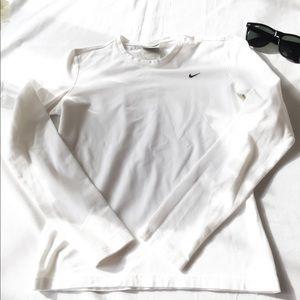 Nike Long Sleeve White Shirt! Size Small!
